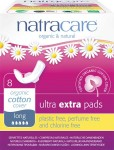 Natracare Organic Cotton Pads Ultra Extra Long (with wings) - 8 pcs.