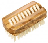 Redecker Olivewood Travel Nail Brush - 1 piece