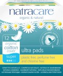 Natracare Organic 100% Cotton Pads (Super with Wings) - 12 pcs.