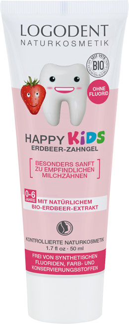 Logona Happy Kids Organic Strawberry Toothgel - 50 ml