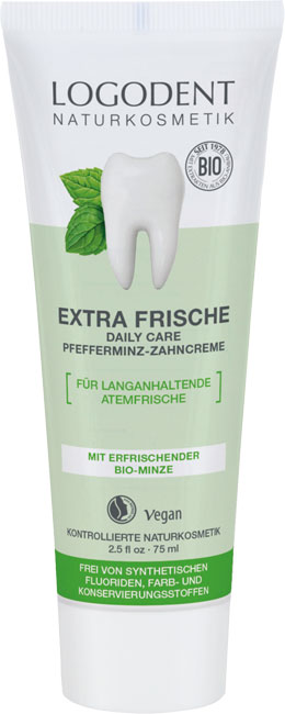 Logona Daily Care Toothpaste Peppermint Extra Fresh - 75 ml