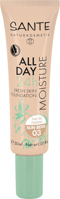 Sante All Day 24h Fresh Skin Foundation 03 Sun Beige - 30 ml