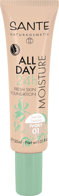 Sante All Day 24h Fresh Skin Foundation 01 Ivory - 30 ml