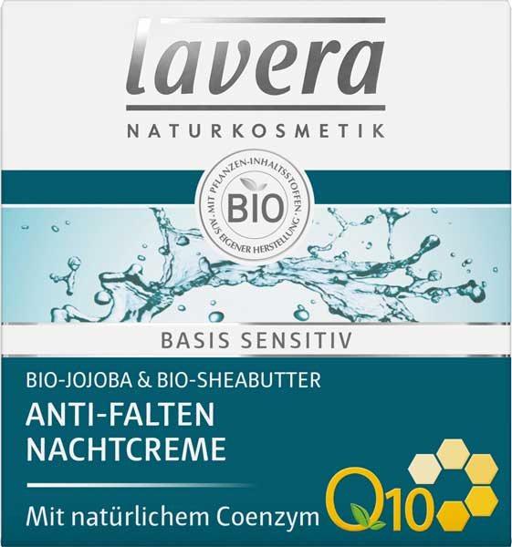Lavera Basis Sensitive Anti-Aging Night Cream Q10 - 50 ml