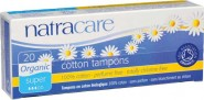 Natracare Organic 100% Cotton Tampons (Super) - 20 pcs.
