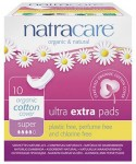 Natracare Organic Cotton Pads Ultra Extra Super (with wings) - 10 pcs.