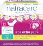 Natracare Organic Cotton Pads Ultra Extra Normal (with wings) - 12 pcs.
