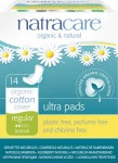 Natracare Organic 100% Cotton Pads Regular with Wings - 14 pcs.
