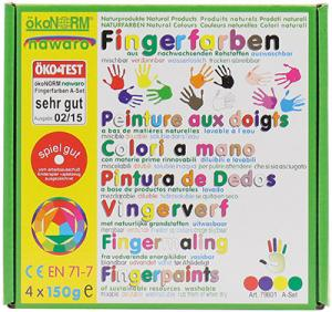 nawaro Finger Colors 4 Colors - 4 x 150 g