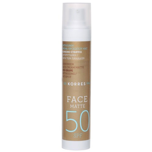 Korres Red Grape Sun Cream Face SPF 50 Matte - 50 ml