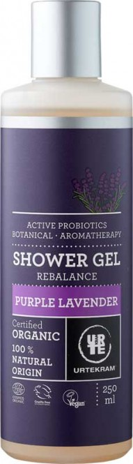 Urtekram Organic Purple Lavender Shower Gel Rebalance - 250 ml