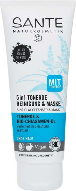 Sante 5in1 Clay Cleanser and Mask - 100 ml