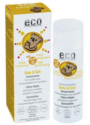 eco Cosmetics Baby & Kids Sun Cream SPF 45 - 50 ml