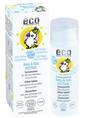 eco Cosmetics Baby & Kids Sun Cream Neutral SPF 50+ - 50 ml