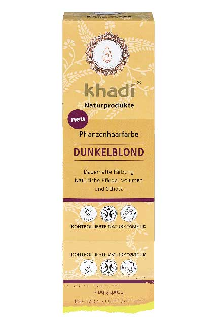 Khadi Natural Hair Color Dark Blond - 100 g