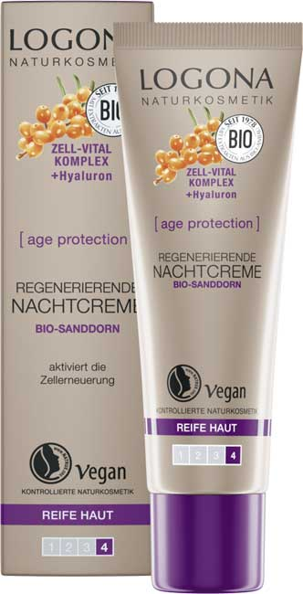 Logona Age Protection Firming Night Cream - 30 ml