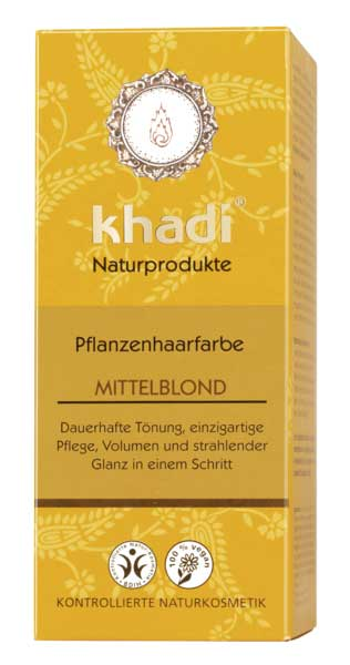 Khadi Natural Hair Color Middle Blond - 100 g