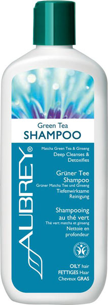 Aubrey Organics Green Tea Shampoo (normal - oily hair) - 325 ml Vegan
