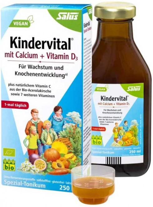Salus Kindervital® with Calcium and Vitamin D3 - 250 ml